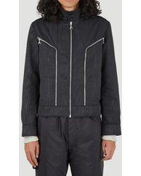 Marine Serre Long Sleeved Zipped Biker Jacket - Black