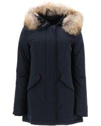Woolrich Luxury Arctic Parka With Murmasky Fur - Blue