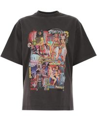we11done New Movie Collage Print T-shirt - Grey