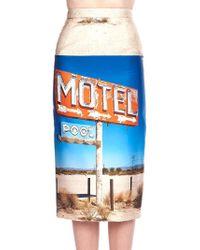 N°21 Motel Pencil Skirt - Blue