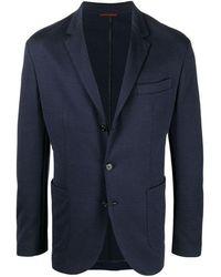 Brunello Cucinelli Single-breasted Cotton Blazer - Blue