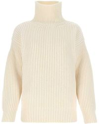 Marni Turtleneck Knitted Jumper - White