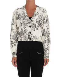 MSGM Patterned Cropped Cardigan - Multicolour