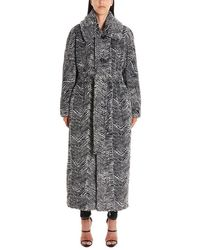 DSquared² Gray Polyester Coat