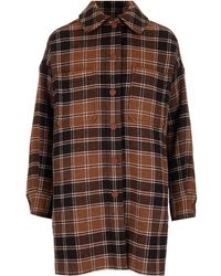 See By Chloé Oversized Checked Shirt - Brown