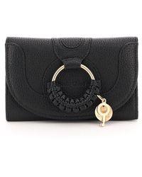 See By Chloé Hana Compact Wallet - Black