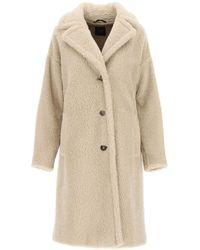 Weekend by Maxmara Salmone Fur-effect Coat - Natural