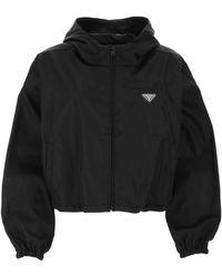 Prada Gabardine Blouson Jacket - Black