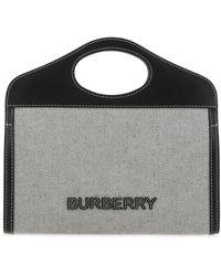 Burberry Top Handle Tote Bag - Black
