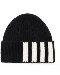 Thom Browne 4-bar Knitted Beanie - Black