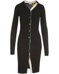 Moncler Genius Moncler 1952 Rib Knit Long Cardigan - Black