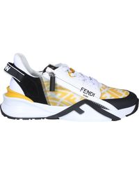 Fendi Flow Ff Motif Low-top Sneakers - Blue