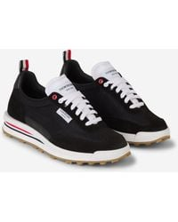 Thom Browne Rwb Stripe Sneakers - Black