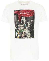 Off-White c/o Virgil Abloh Off-white caravaggio Painting Oversized T-shirt White
