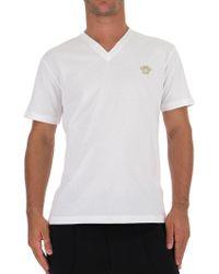 Versace - Medusa V-neck T-shirt - Lyst