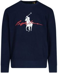 Polo Ralph Lauren Maxi Logo Sweatshirt - Blue