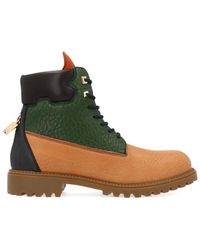 Buscemi Multicolour Leather Ankle Boots - Green
