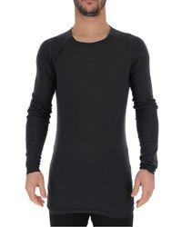 Rick Owens Crewneck Sweater - S / Navy - Blue