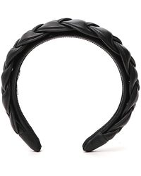 Miu Miu Woven Headband - Black