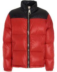 Moschino Logo Puffer Jacket - Red