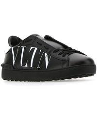Valentino Garavani Valentino Garavani Rockstud Studded Leather Sneakers - Black