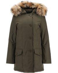 Woolrich Arctic Parka With Murmasky Fur Xs Technical,fur,cotton - Green