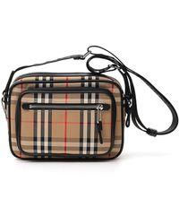 Burberry Vintage Check Crossbody Bag - Natural