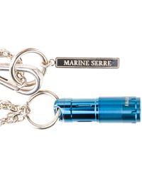 Marine Serre Whistle Pendant Necklace - Blue