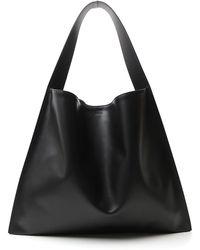 Jil Sander Medium Border Tote Bag - Black