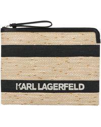 Karl Lagerfeld K/skuare Panelled Clutch Bag - Black