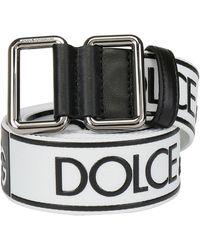 Dolce & Gabbana Logo Belt - White