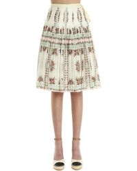 Tory Burch 'wrap' Skirt - Natural