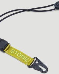 Stone Island Logo Buckle Keychain - Black