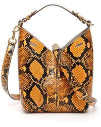 Anya Hindmarch Ochre Glossy Python Bag - Multicolour