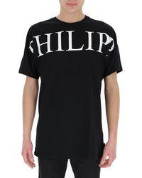 Philipp Plein Logo Printed T-shirt - Black