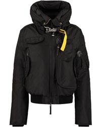 Parajumpers Gobi Hooded Bomber-style Down Jacket - Black