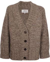 Maison Margiela V-neck Knit Cardigan - Brown