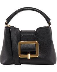Bally Jorah Small Buckle Detailed Top-handle Bag - Black