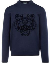 KENZO Tiger Motif Sweater - Blue