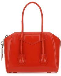 Givenchy Antigona Lock Small Top Handle Bag - Red