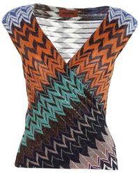 Missoni Zig Zag Knit Sleeveless Top - Multicolor