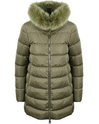 Herno Layered Padded Jacket - Green