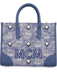 MCM Canvas Handbag - Blue