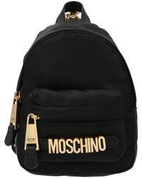 Moschino Mini Chain Backpack - Black
