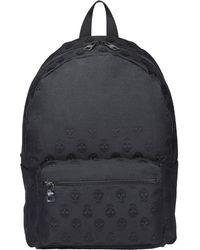 Alexander McQueen Metropolitan Biker Skull Backpack - Black