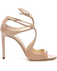Jimmy Choo Lang Patent Leather Sandals - Pink