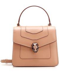 BVLGARI Serpenti Forever Top Handle Bag - Pink