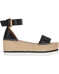 See By Chloé Glyn Platform Sandals - Black