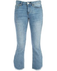 MICHAEL Michael Kors Cropped Flared Jeans - Blue