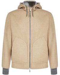 Brunello Cucinelli Hooded Jacket - Brown